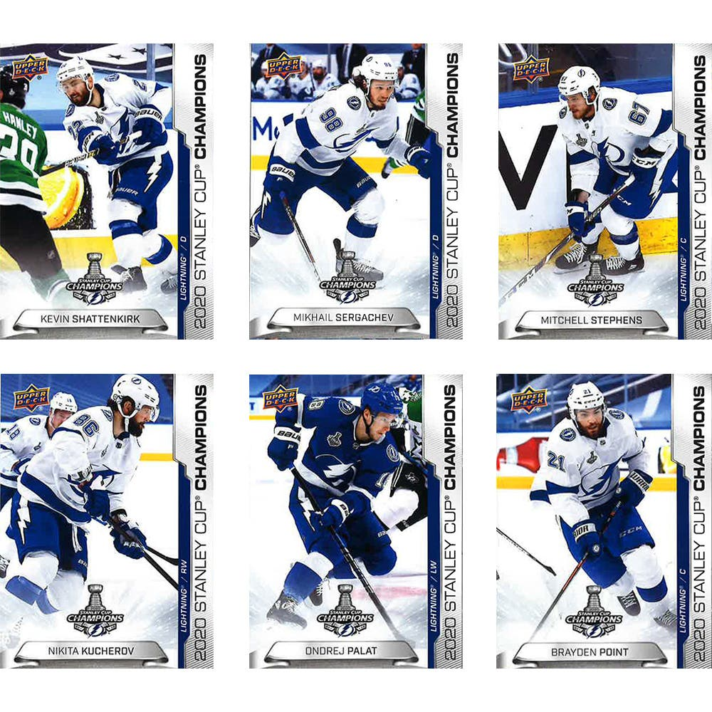 2020 NHL Stanley Cup Champion Tampa Bay Lighting Promo Trading Cards