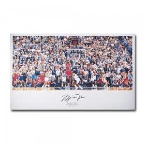 Michael Jordan Autographed Last Shot Illustration