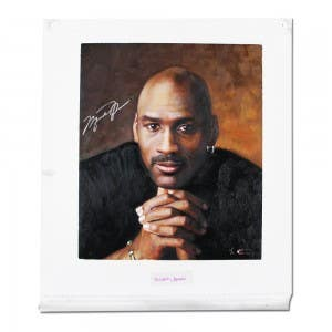 Michael Jordan Autographed Goodwin Portrait Original Card Art