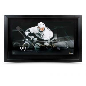 Wayne Gretzky Autographed Acrylic Stick Blade with Los Angeles Kings Motion Picture - Framed