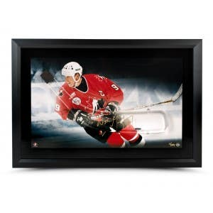 Wayne Gretzky Autographed Acrylic Stick Blade with Team Canada Picture - Framed