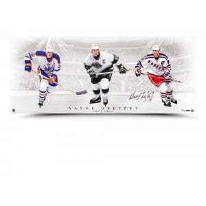 "Wayne Gretzky Signed ""Triple Threat"" Picture"