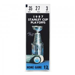 Wayne Gretzky Signed 1987 Stanley Cup Finals Game 7 Mega Ticket
