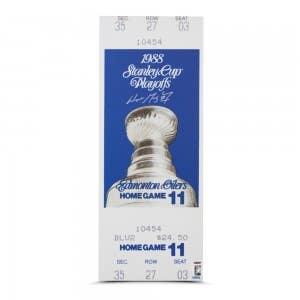 Wayne Gretzky Signed 1988 Stanley Cup Finals Game 5 Mega Ticket