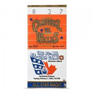 Wayne Gretzky Signed & Inscribed 1989 All Star Game Mega Ticket