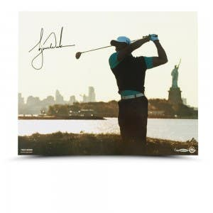 Tiger Woods Autographed Lady Liberty 16x20 Print