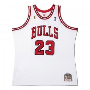 Michael Jordan Autographed & Inscribed 1995-96 White Chicago Bulls Authentic Mitchell & Ness Jersey
