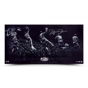 "Michael Jordan Autographed ""Kiss the Rim"" 36x18"