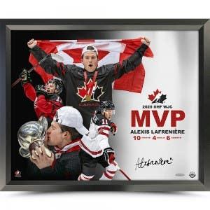 """Alexis Lafrenière Autographed """"2020 Canada Juniors Wins Gold"""" 16x20"""