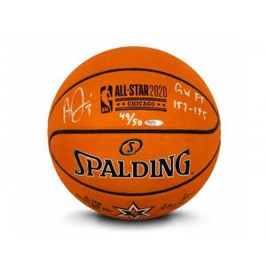 Anthony Davis Autographed & Inscribed 2020 NBA All-Star Game Authentic Spalding Basketball