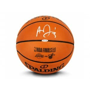 Anthony Davis Autographed Authentic Spalding Basketball With Laser Engraved 2020 NBA Finals Logos