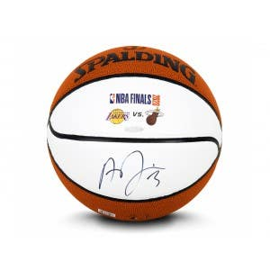 Anthony Davis Autographed Spalding Autograph Basketball With Laser Engraved NBA Finals Logos