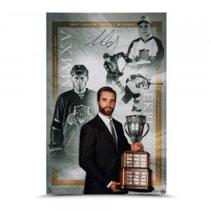 "Aaron Ekblad Autographed ""Calder Trophy"" 16 x 24"