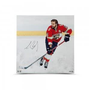 """Aaron Ekblad Autographed """"Canvas Beginnings"""" 24 x 24 Canvas"""