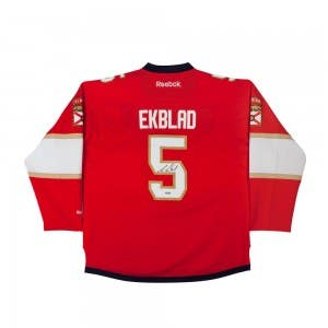 Aaron Ekblad Autographed Florida Panthers Red Premier Jersey
