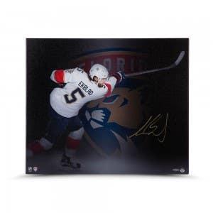 "Aaron Ekblad Autographed ""Follow Through"" 20 x 24 Canvas"