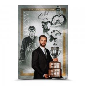 "Aaron Ekblad Autographed & Inscribed ""12G – 27A – 39P"" ""Calder Trophy"" 16 x 24"