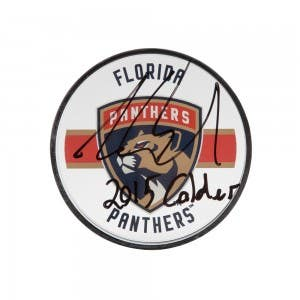 "Aaron Ekblad Autographed & Inscribed ""2015 Calder"" Florida Panthers Acrylic Puck"