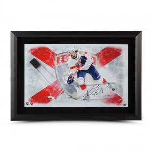 Aaron Ekblad Autographed Stick Blade with Florida Panthers Picture – Framed