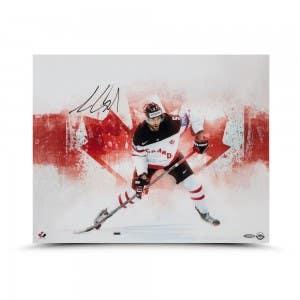 "Aaron Ekblad Autographed Team Canada ""Home Pride"" 16 x 20"