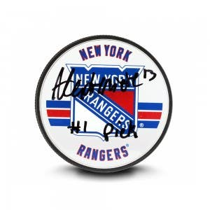 Alexis Lafrenière Autographed & Inscribed New York Rangers Acrylic Puck