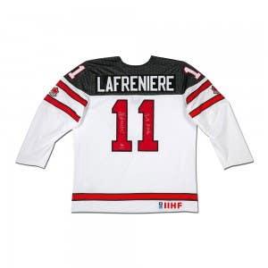 Alexis Lafrenière Autographed & Inscribed Team Canada White Jersey