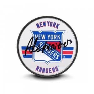 Alexis Lafrenière Autographed New York Rangers Acrylic Puck
