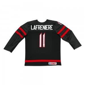 Alexis Lafrenière Autographed Team Canada Nike Alternate Black Jersey