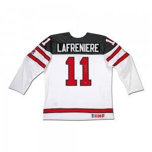 Alexis Lafrenière Autographed Team Canada Nike White Jersey