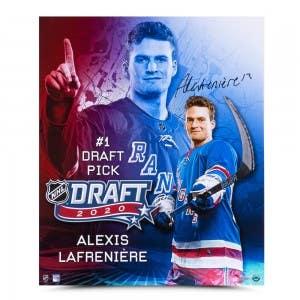 """Alexis Lafrenière Autographed """"Draft Day"""" 20x24"""