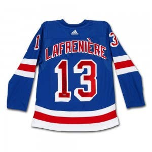 Alexis Lafrenière Autographed Authentic New York Rangers Adidas Blue Jersey