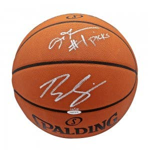 Allen Iverson & Ben Simmons Autographed & Inscribed Authentic Spalding Basketball