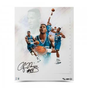 """Alonzo Mourning Autographed """"Buzz"""" Collage 16 x 20"""