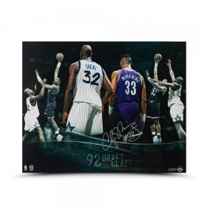 Alonzo Mourning Autographed Draft Class 16 x 20