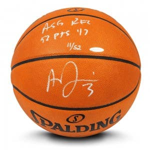 Anthony Davis Autographed & Inscribed Authentic Spalding Basketball