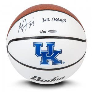 Anthony Davis Autographed & Inscribed Baden University of Kentucky Basketball