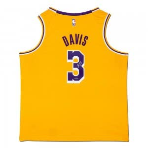 Anthony Davis Autographed Los Angeles Lakers Gold Swingman Nike Jersey