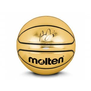 Anthony Davis Autographed Molten Gold Trophy Basketball