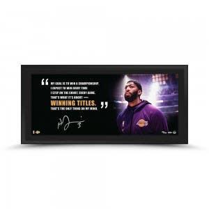 "Anthony Davis Autographed ""Winning Titles"" 36x15 Framed"