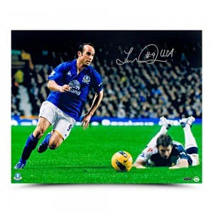 Autographed Landon Donovan Everton Photo