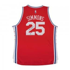 Ben Simmons Autographed 76ers Alternate Jersey