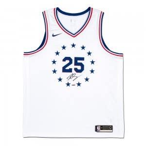 Ben Simmons Autographed Philadelphia 76ers White Swingman 2018-19 Earned Edition Nike Jersey
