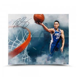 """Ben Simmons Autographed """"Above The Clouds"""" 24 x 20"""