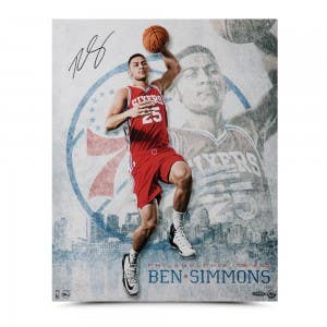 "Ben Simmons Autographed ""All Systems Go"" 16 x 20"