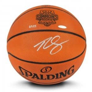 Ben Simmons Autographed Authentic Spalding Basketball With 2018 Rookie of the Year Laser Engraved Logo