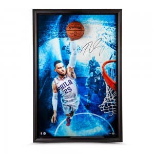 "Ben Simmons Autographed Breaking Through ""Electric Blue"""