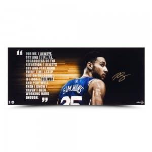 """Ben Simmons Autographed """"Deliver"""" Color 36 x 15"""