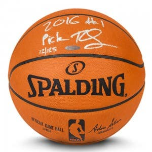 "Ben Simmons Autographed & Inscribed ""2016 #1 Pick"" Authentic Spalding Basketball"