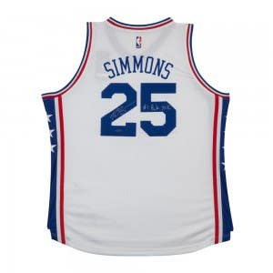 Ben Simmons Autographed & Inscribed 76ers Home Jersey