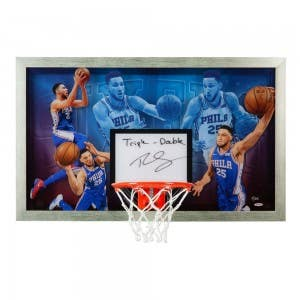 "Ben Simmons Autographed & Inscribed ""Facilitator"" Backboard"